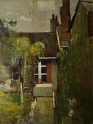 Blois, rue du grain d'or, 1958 (huile sur isorel, 49 X 64 cm, coll. part. GR).