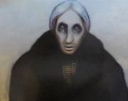 La femme du notable (diptyque), 1979 (huile sur toile, 81 x 117 cm, coll. part. HMC)