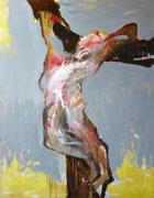Crucifixion (oeuvre inachevée), 2013 (huile sur bois, 110 x 155 cm, coll. part. GR)