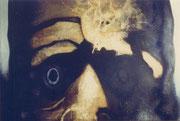 La peur ou le fou, env. 1970 (huile, 104 x 73, 5 cm, coll.  part. MR)