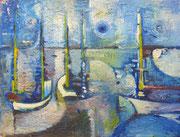 Port (huile sur carton, 65 x 51 cm, coll .part. MR)