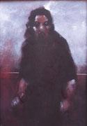 Personnage à la Goya, 1990 (gouache sur bois, 40 x 30 cm, coll. part. MR)