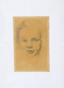 Portrait d'enfant (dessin, 18 x 11 cm, coll. part. MR)