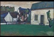 Pleyben, env. 1950 (huile sur toile, 69 x 108 cm, coll. part. GC)