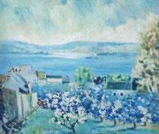 Landevennec, 1950 (huile sur bois, 45 x 39 cm, coll. part. AT)
