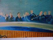 Fresque, café du centre, env. 1990