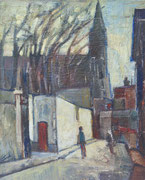 Rue de Montmartre, 1958, (huile sur carton, 48 x 63 cm, coll. part. MR)