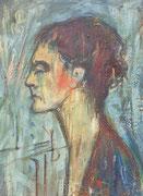 Portrait de femme, (huile sur carton, 33 x 46 cm, coll. part. MR)