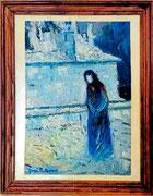 La dame noire, env. 1950 (huile sur toile, 36.5 x 25 cm, coll. part.)