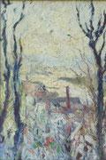 Paysage d'hiver (huile sur bois, 32 x 49 cm, coll. part. MR)