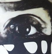 L'oeil (huile sur toile, 106 x 107 cm, coll. part. GR)