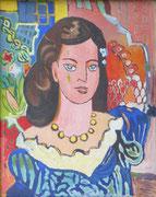 Portrait façon Matisse (huile sur bois, 40 x 50 cm, coll. part. MR)