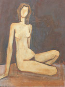Nu féminin (huile sur carton, 50 x 65 cm, coll. part. MR)