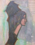 Janie (huile sur carton, 50 x 65 cm, coll. part. MR)