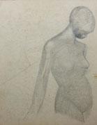 Etude de nu (dessin, 38 x 28 cm, coll. part. MR)