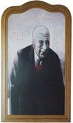 Portrait robot d'un notable (diptyque), 1978 (huile, 144 x 93 cm, coll. part. HMC)
