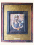 Mère à l'enfant, Auschwitz, env. 2000 (huile sur bois, 67 x 83 cm, coll.part. GR)