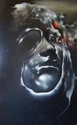 L'homme à facettes, 1976 (huile sur toile, 191 x 111 cm. coll. part. GR)