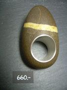 Bild:Ring,Flusskiesel,Emmental,Silber925,Handarbeit,Unikat,Schmuck