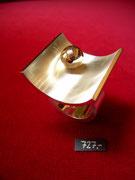 Bild:Ring,Silber925,Schale,Rotgold750,18kt,Kugel,Handarbeit,Unikat