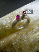 Bild:Ring,Silber925,Turmalin,Cabochon,rosa,pink,Handarbeit,Unikat