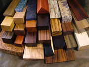 Bois de région, bois exotiques, bois teintés et stabilisés