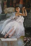 Ballerina - olio su tela dimensione 70 x 100