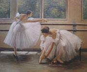 Ballerine - olio su tela dimensione 50 x 60