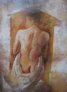 Nudo di schiena - olio su tela dimensione 40 x 50