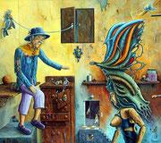 Relaciones secretas - (Oleo sobre tela) - Daniel Dankh 2012