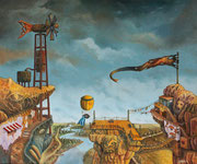 Atardecer en Villaviento - Oleo 50x60 (2010) - Daniel Dankh