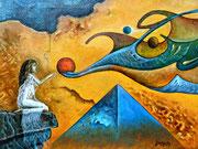 """""""Cerca de la Revelación"""" (Oleo, 27x35) - 2017"""