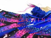 Kürkleid `blauer Schmetterling ´/ Detail