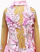 Kürkleid in rosa / Detailansicht vorne / Gr. 128