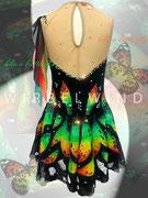 Kürkleid `Schmetterling ´, Rückenansicht