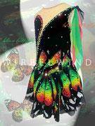 Kürkleid `Schmetterling ´, Seitenansicht