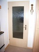 Zimmertüre Fichte furniert mit Glaseinsatz