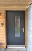 Haustüre gestrichen RAL7016 mit Glaseinsatz