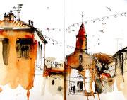 Skyline de Giens et son église