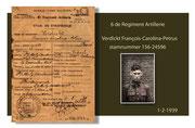 Frans Verdickt  Stam- en strafboekje