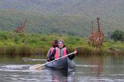 Canoa e giraffe