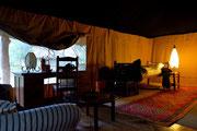 L'interno della tenda