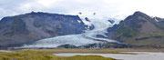 Panoramica dei una lingua di ghiaccio