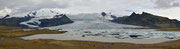 Panoramica della laguna Fjallsàrlòn