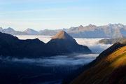 Alba con nebbia