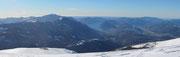 Vista verso la capanna e Lugano