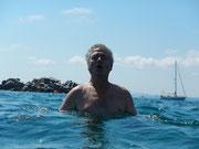Helmut als Fisch im Wasser