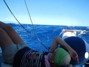 Na Dagmar, will die Welle ins Cockpit? Mitsegeln im Mittelmeer ist auch was für Frauen