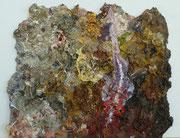 Maria Vogl, Fisch über Riff, 23x19, Öl auf Palette
