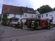 Das alte Haus durfte vor der Sanierung nochmal für eine Feuerwehrübung genutzt weren